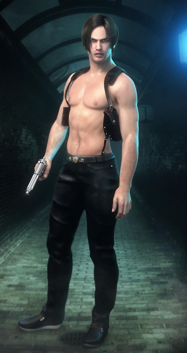 Leon S. Kennedy Shirtless Version by JavierMicheal