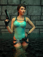 Lara Croft: A Wet Situation by JavierMicheal