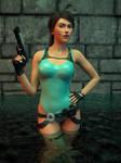 Lara Croft: A Wet Situation