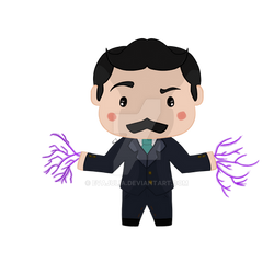 Redbubble| Small figures of history: Nikola Tesla