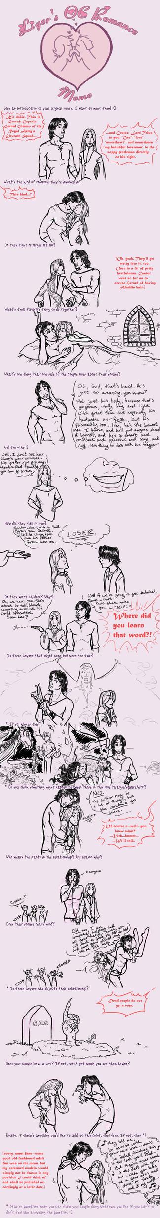 Romance Meme: Castor n Gerard by chocolatechipmunk
