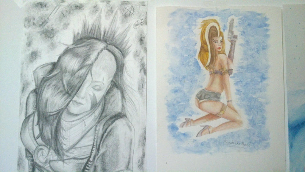 some tradicional drawings by MeLiNaHTheMixed