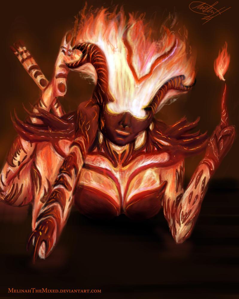Little Flame Atronach From Skyrim by MeLiNaHTheMixed