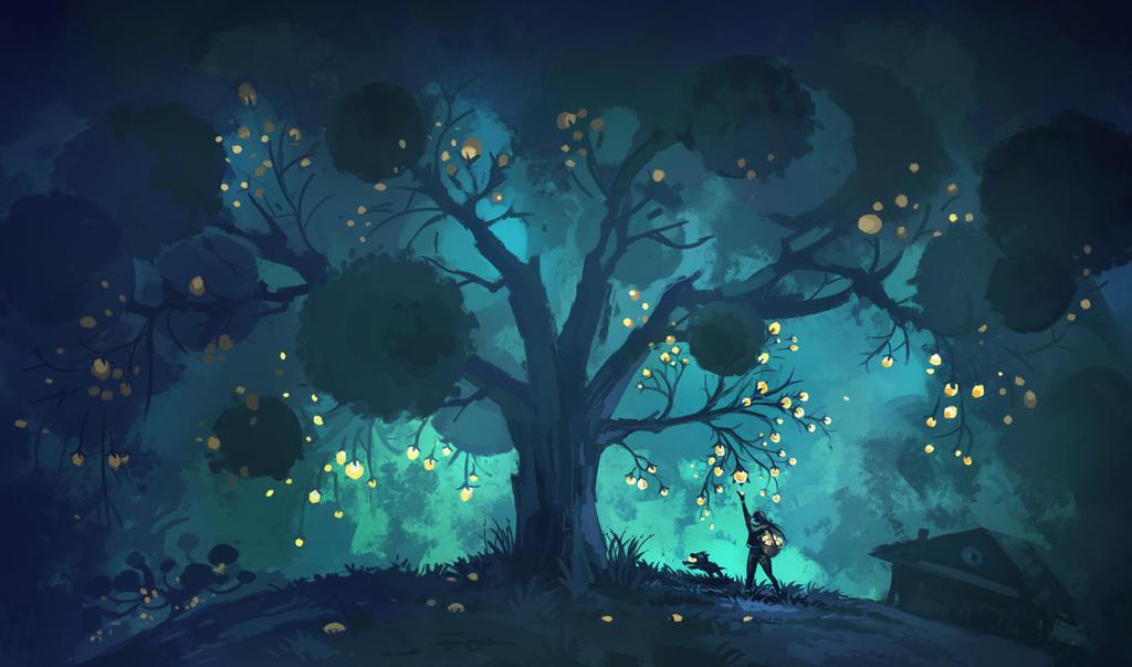 Night fruits by koel-art
