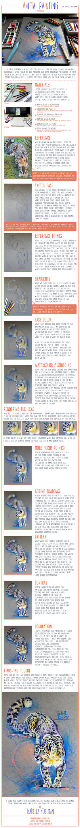 Animal Painting Tutorial - Snow Leopard by koel-art