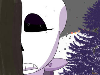 Lilac Sans is scared...