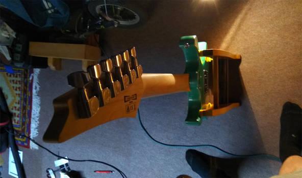 Ibanez GRX40 Gio strato homemade guitar stand