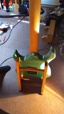 Ibanez GRX40 Gio homemade guitar stand 2