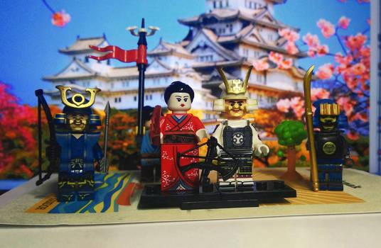LEGO samurai shogun and kimono hime
