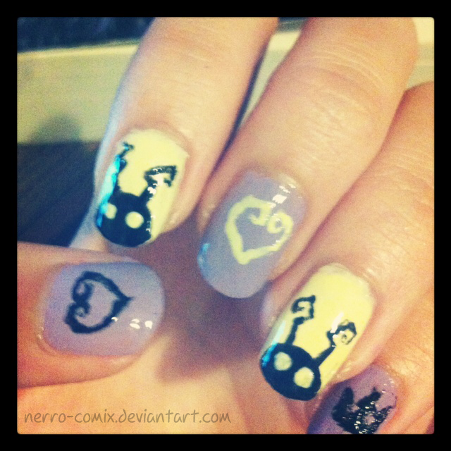Kingdom Hearts Nails by Nerro-comix on DeviantArt