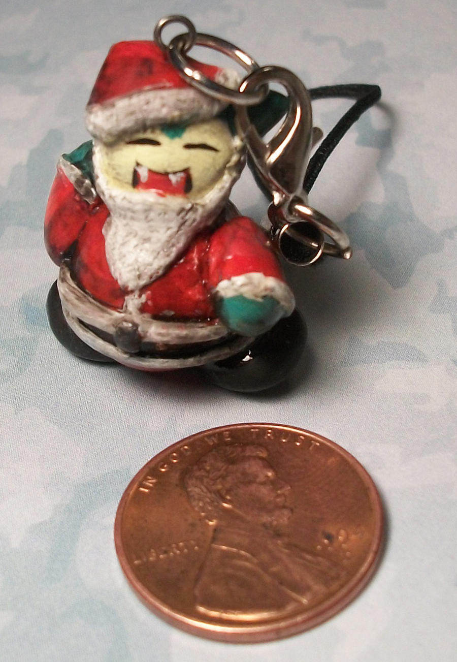 Snorlax X-mas ornament charm by ElectricDinoSaur
