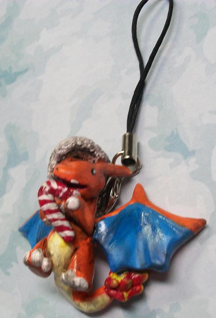 X-mas Charizard ornament by ElectricDinoSaur