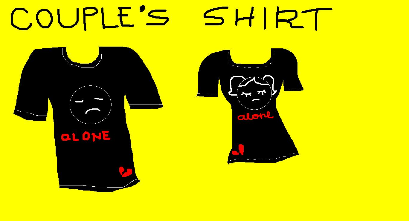 Shirt design for couples -  Couple Shirt Design Front 1 By Aibee