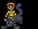 Jelani and Nurumon Chibi's by ThePyroPony