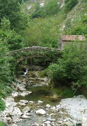 Bridge in los Picos de Europa by HermitCrabStock