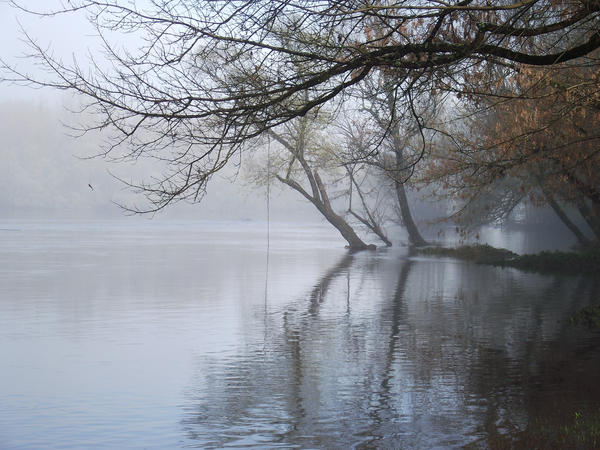 Fog on the Dordogne river 13 by HermitCrabStock