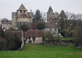 Thegra 02 - medieval village by HermitCrabStock