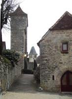 Loubressac 08 medieval street by HermitCrabStock