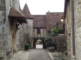 Loubressac 12 medieval street by HermitCrabStock