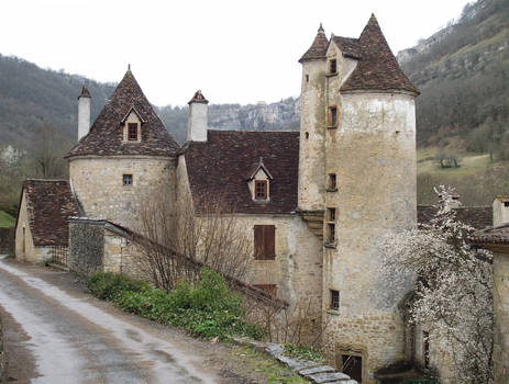 Autoire 02 medieval house by HermitCrabStock