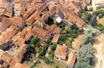 Figeac medieval town full view