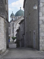 Castelnau - church old street by HermitCrabStock