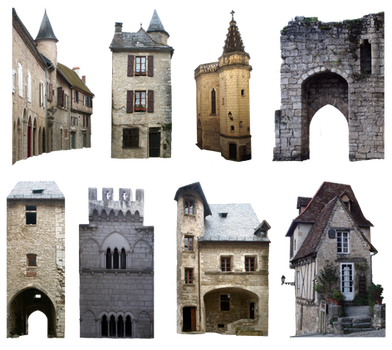 PNG medieval houses - 033 by HermitCrabStock