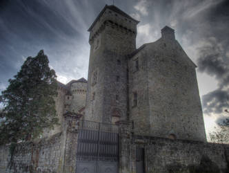 Medieval Castle of Curemonte by HermitCrabStock