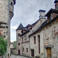 Medieval street - Curemonte 04 by HermitCrabStock