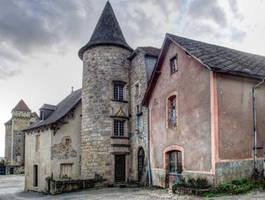 Medieval village - Curemonte 12 by HermitCrabStock