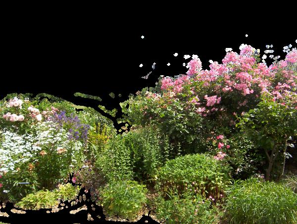 Flowered garden png 01 by HermitCrabStock on DeviantArt