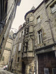 Brive 02 - Old house and sculpted tower