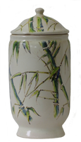 Green bamboos apothecary pot - PNG