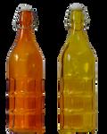 Orange and yellow bottles
