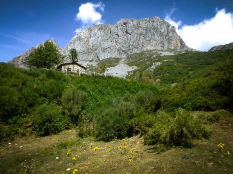 Picos de Europa 118 - Mountain and house