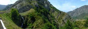 Picos de Europa 151 - Panorama mountain waterfall