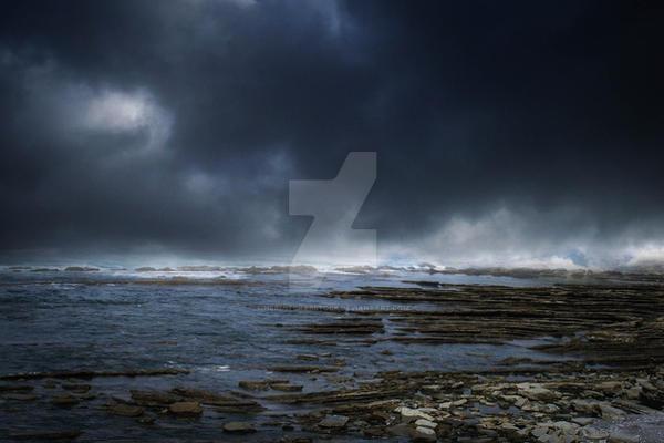 Premade 20 - Stormy sea by HermitCrabStock