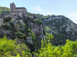St Cirq Lapopie 13 - Full View by HermitCrabStock