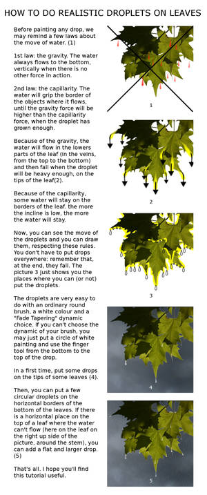 How to do Realistic Droplets on Leaves