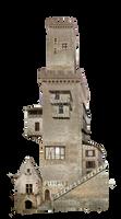 Fantasy Tower 02 by HermitCrabStock