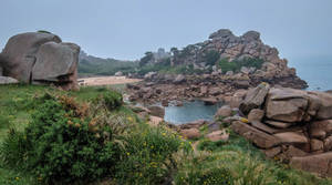 Brittany 34 - Pink Granite Coast by HermitCrabStock