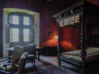Chateau du Montal 015 - Sleeping room by HermitCrabStock