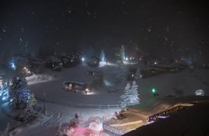 Avoriaz 001 - Snowy Mountain at night by HermitCrabStock