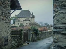 Yvoire 011 - Castle by HermitCrabStock