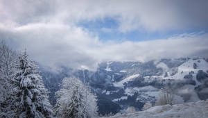Avoriaz 027 - Snowy mountains and clouds by HermitCrabStock