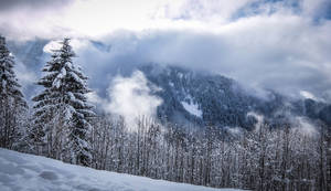 Avoriaz 028 - Snowy mountains and clouds by HermitCrabStock
