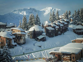 Avoriaz 061 - Village in the Snow by HermitCrabStock