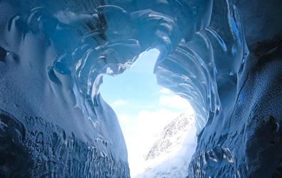 Chamonix Mt Blanc 056 - Ice cave by HermitCrabStock
