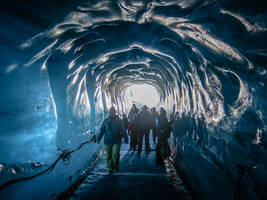 Chamonix Mt Blanc 055 - Ice cave by HermitCrabStock