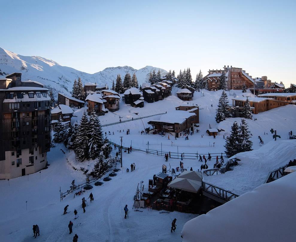 Avoriaz 071 - Snowy village by HermitCrabStock